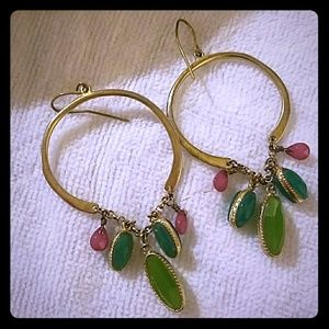 Emerald and ruby earings (fashion jewelry)